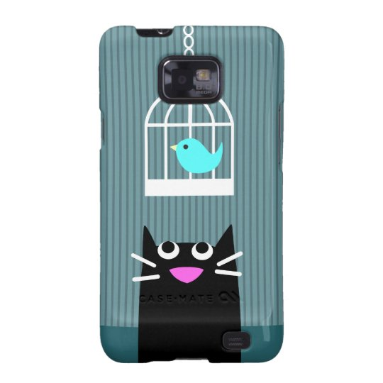 Black Cat & Blue Bird Samsung Galaxy SII Cases