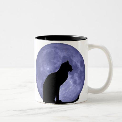 Black Cat, Blue Moon Mugs