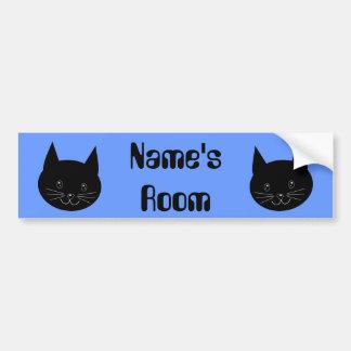 Black Cat Bumper Sticker