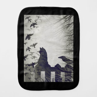 Black Cat Burp Cloth