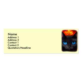 Black Cat Butterfly Painting Art - Multi Double-Sided Mini Business Cards (Pack Of 20)