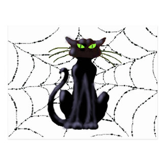 BLACK CAT by SHARON SHARPE Postcards