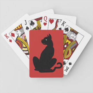 BLACK CAT by Slipperywindow Playing Cards