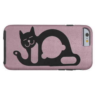 BLACK CAT by Slipperywindow Tough iPhone 6 Case