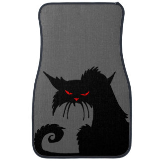 Black Cat Car Mat