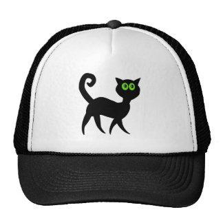 black cat cartoon animal cap