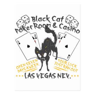 Black Cat Casino Postcard