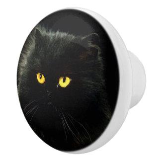 Black Cat Ceramic Knob