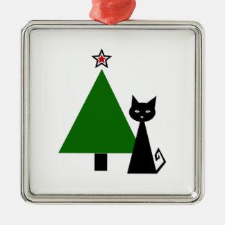 Black Cat Christmas Christmas Ornament