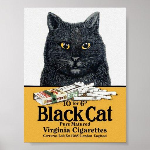 Black Cat Cigarettes Poster