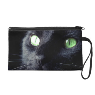 Black Cat Clutch Bag Wristlet