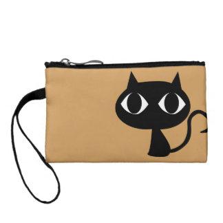black cat coin key clutch