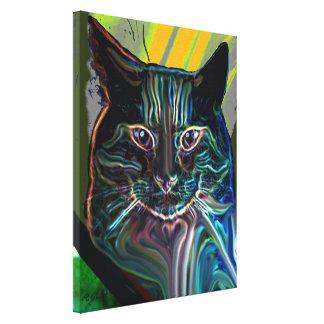 black cat colourful graphic design on canvas canvas prints