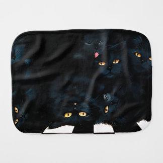 Black Cat Cuddle Burp Cloth