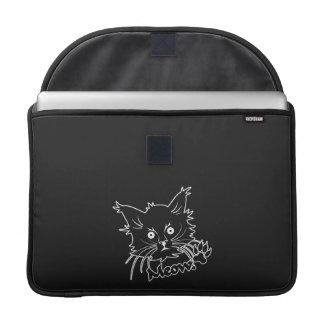 "Black Cat custom 15"" MacBook sleeve"