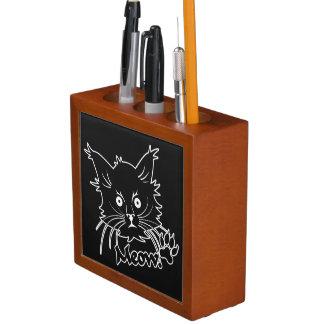 Black Cat custom desk organizer