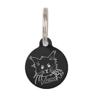 Black Cat custom pet tag