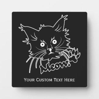 Black Cat custom plaque