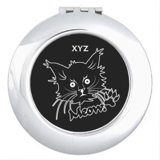 Black Cat custom pocket mirror Mirrors For Makeup