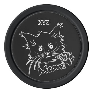 Black Cat custom poker chips