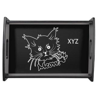 Black Cat custom serving tray