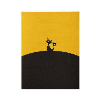 "Black Cat Custom Wood Poster, 19"" x 14.5"" Wood Poster"