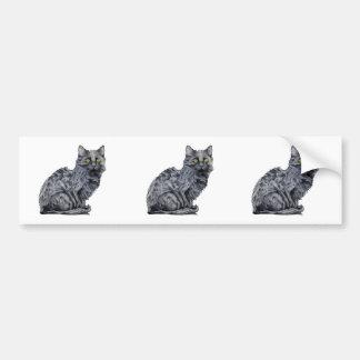 Black Cat cutout Sticker Bumper Sticker