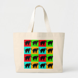 Black Cat Design Jumbo Tote