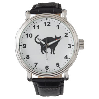 """Black cat"" design watch"