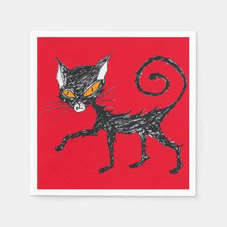 Black cat disposable serviettes