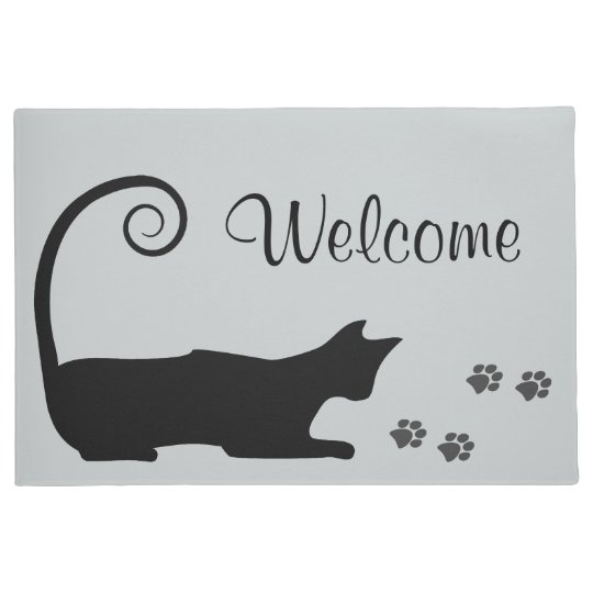 Black Cat Doormat