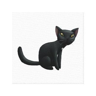Black Cat Drawing Canvas Print