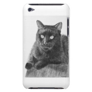 Black Cat Drawing iPod Touch Cover