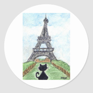 BLACK CAT EIFFEL TOWER STICKERS