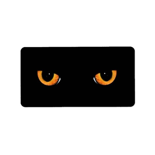 Black Cat Eyes Address Labels