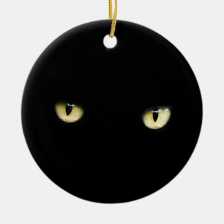 Black Cat Eyes | Cat Eye Macro Christmas Ornament