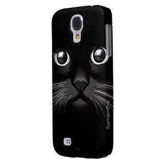 Black Cat Eyes Galaxy S4 Case