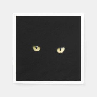 Black Cat Eyes   Halloween Disposable Serviette
