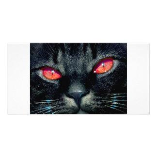 Black Cat Eyes Photo Greeting Card