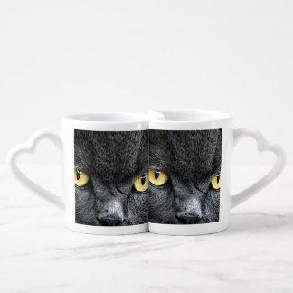 Black Cat Eyes Lovers Mug