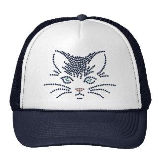 Black Cat Face Trucker Hat