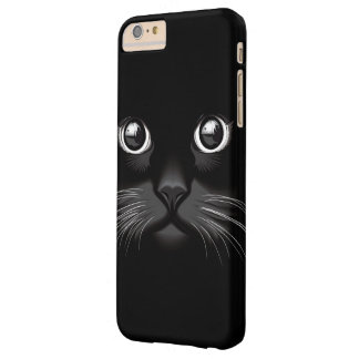 Black Cat Face Eyes Barely There iPhone 6 Plus Case