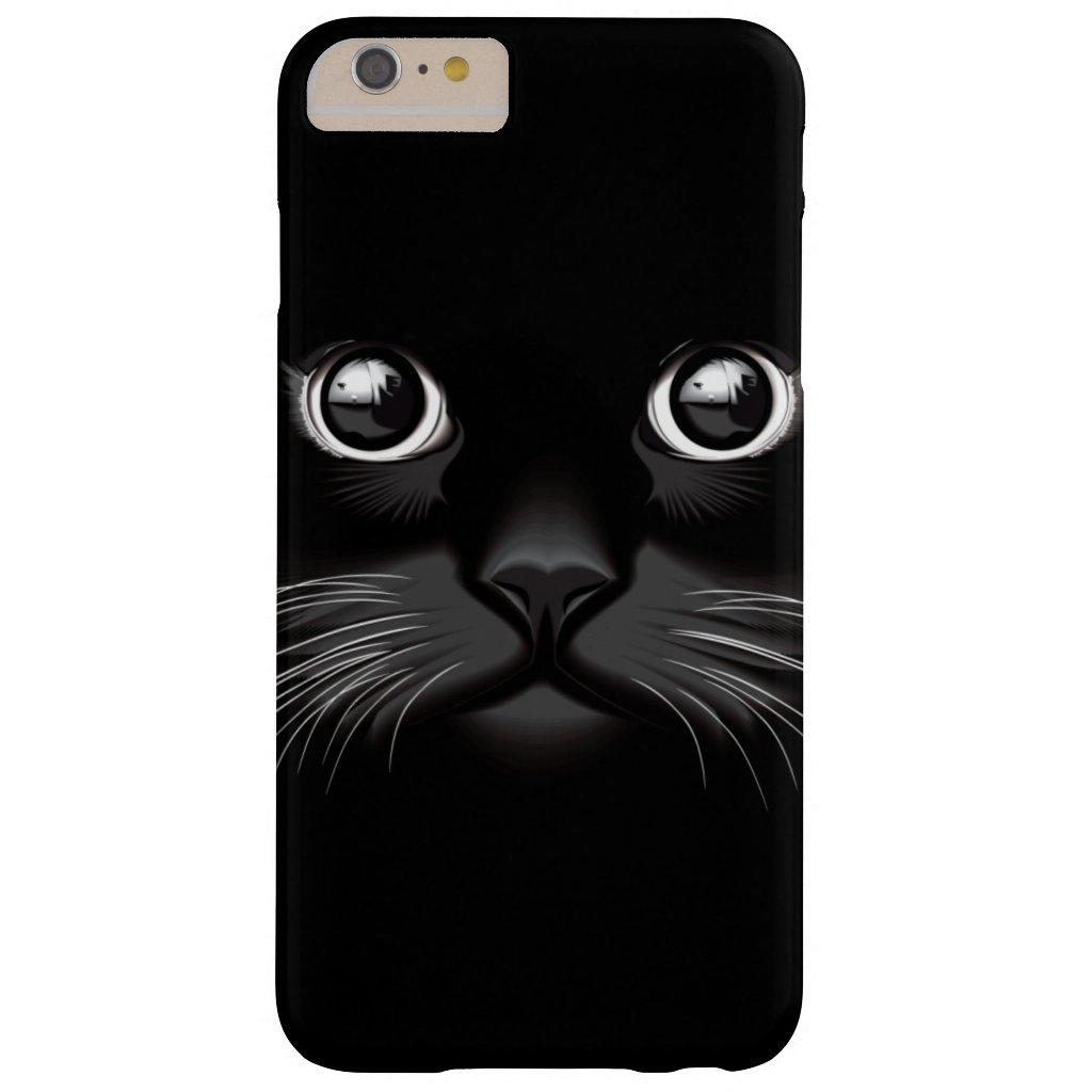 Black Cat Face Eyes iPhone Case