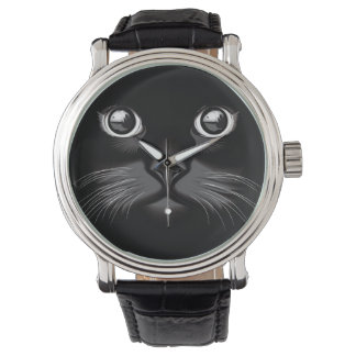 Black Cat Face Eyes Watch