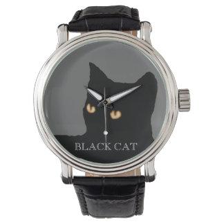 black cat face watch