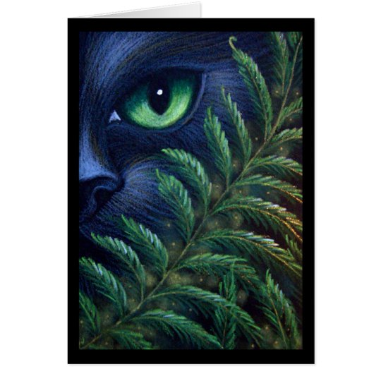 BLACK CAT & FERNS CUSTOMIZE Card