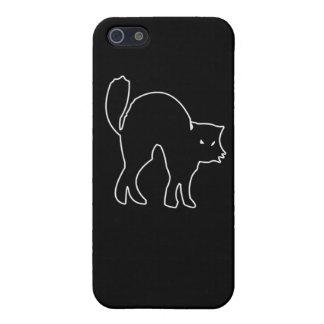 Black Cat figure iPhone 5/5S Covers
