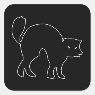 Black Cat figure Sticker