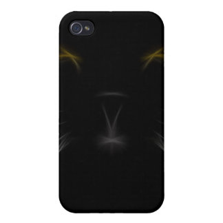 Black Cat Fractal iPhone4 iPhone 4/4S Cover