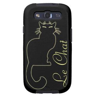 Black Cat Galaxy S3 Case Cat Lover Smartphone Case